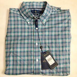 Ralph Lauren NWT cotton stretch dress shirt.